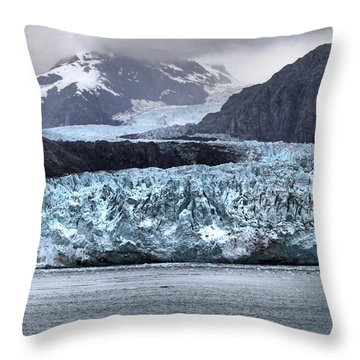 Glacier Bay National Park Throw Pillow by Farol Tomson