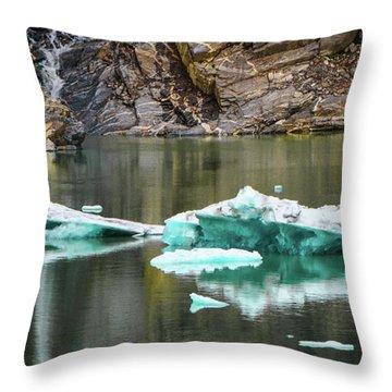 Alaskan Icebergs Throw Pillow