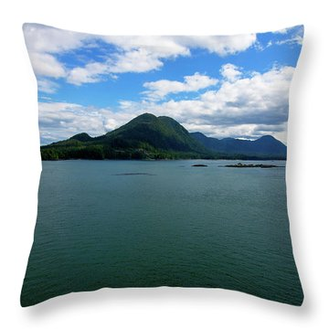 Alaskan Island Throw Pillow