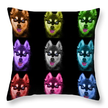 Alaskan Klee Kai - 6029 -bb - M Throw Pillow by James Ahn