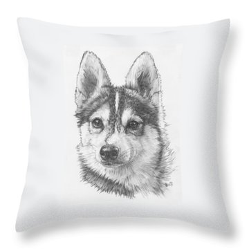 Alaskan Klee Kai Throw Pillow