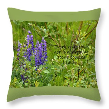 Throw Pillow featuring the photograph Alaskan Lupine Heaven by Diane E Berry