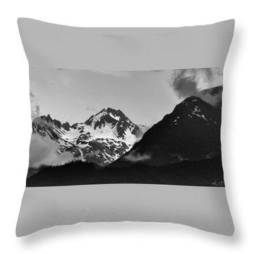 Alaskan Mountain Range Throw Pillow