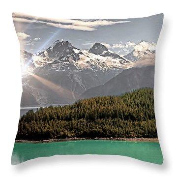 Alaskan Mountain Reflection Throw Pillow