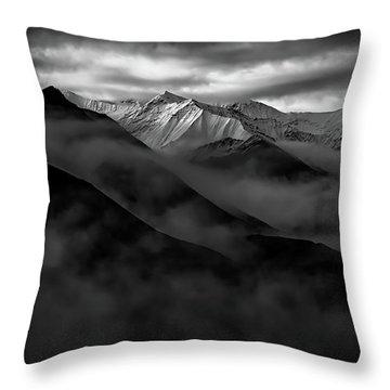Throw Pillow featuring the photograph Alaskan Peak In The Shadows by Rick Berk