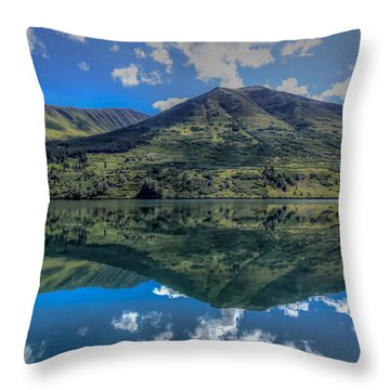 Alaskan Reflections Throw Pillow