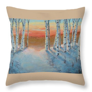 Alaskan Road Throw Pillow