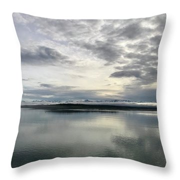 Alaskan Sunrise Throw Pillow