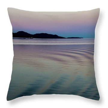 Alaskan Sunset At Sea Throw Pillow