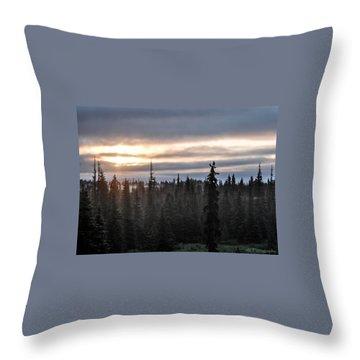 Alaskan Sunset Sunrise Throw Pillow