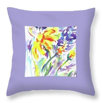 Alaskan Wildflowers Throw Pillow