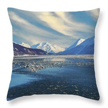 Alaskan Winter Landscape Throw Pillow