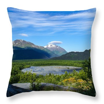 Alaska's Exit Glacier Valley Throw Pillow