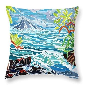 Alau Island Throw Pillow by Fay Biegun - Printscapes