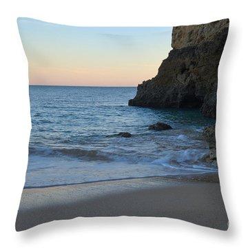 Albandeira Beach Welcoming Twilight 2 Throw Pillow