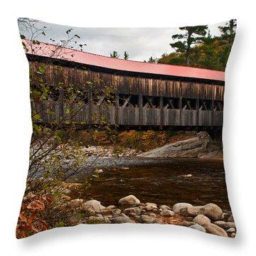 Albany Covered Bridge Throw Pillow