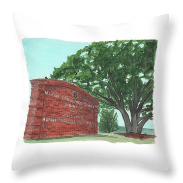 Albany Logistics Base Welcme Throw Pillow