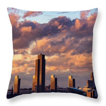 Albany Sunset Skyline Throw Pillow