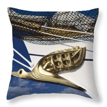 Throw Pillow featuring the photograph Albatross Figurehead by Heiko Koehrer-Wagner