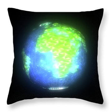 Albedo - Africa And Europe By Day Throw Pillow