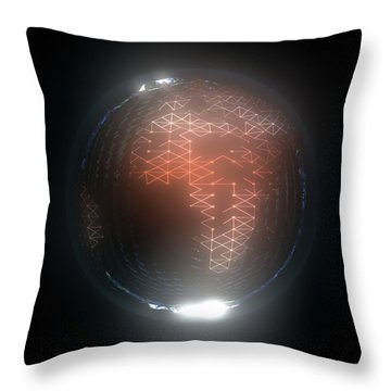 Albedo - Africa And Europe By Night Throw Pillow