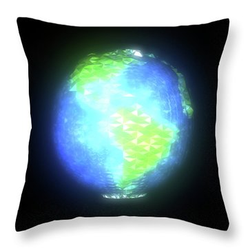 Albedo - Americas By Day Throw Pillow