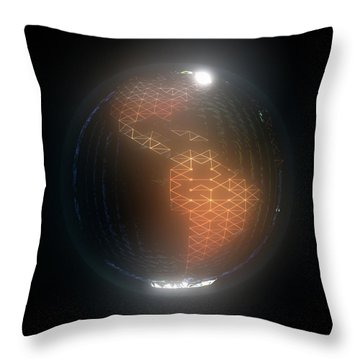 Albedo - Americas By Night Throw Pillow