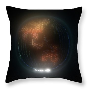 Albedo - Asia And Australasia By Night Throw Pillow