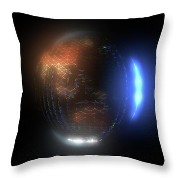 Albedo - Transition From Night To Day Throw Pillow