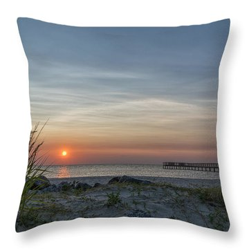 Throw Pillow featuring the photograph Albemarle Sunset by Gregg Southard