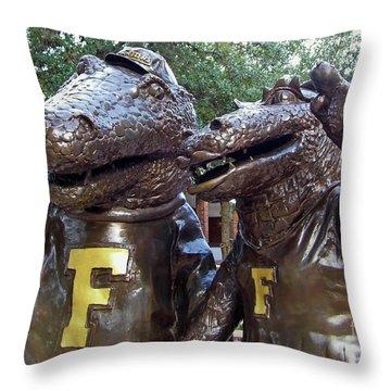 Albert And Alberta Throw Pillow by D Hackett