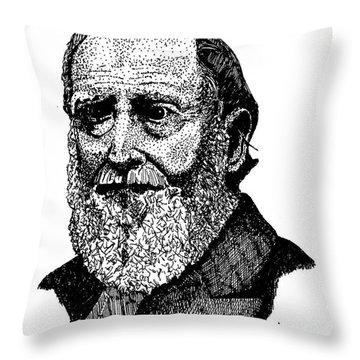 Albert Boone Throw Pillow