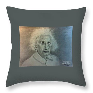 Albert Einstein Portrait Throw Pillow