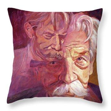 Albert Schweitzer Portrait Throw Pillow