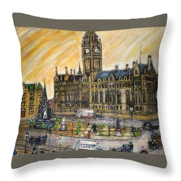 Albert Square Manchester 1900 Throw Pillow