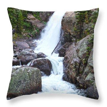 Alberta Falls Throw Pillow by David Yunker