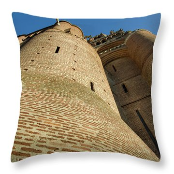 Albi Cathedral Low Angle Throw Pillow by RicardMN Photography