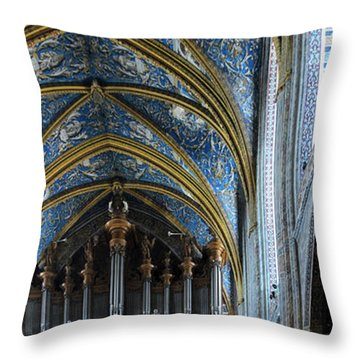 Albi Cathedral Nave Throw Pillow by RicardMN Photography