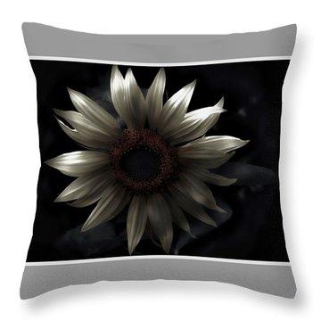 Albino Sunflower Throw Pillow