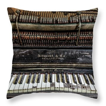 Albrecht Company Piano Throw Pillow