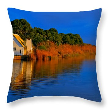 Albufera Blue. Valencia. Spain Throw Pillow