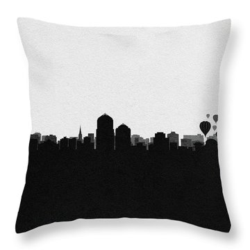 Albuquerque Cityscape Art Throw Pillow