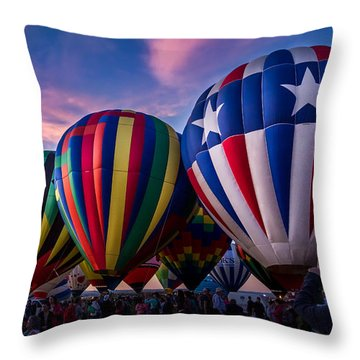 Albuquerque Hot Air Balloon Fiesta Throw Pillow