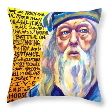 Albus Throw Pillow by Alicia VanNoy Call