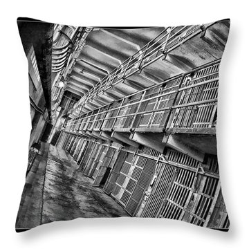 Alcatraz The Cells Throw Pillow