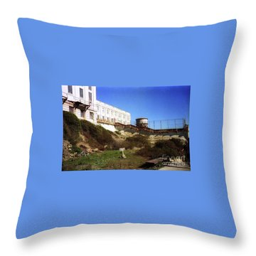 Alcatraz Water Tank Prison  Throw Pillow