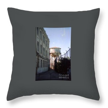 Alcatraz Water Tank  Throw Pillow by Ted Pollard