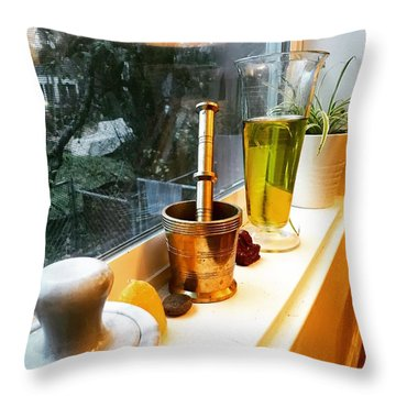 Alchemy And Oils Throw Pillow