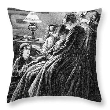 Alcott: Little Women Throw Pillow by Granger