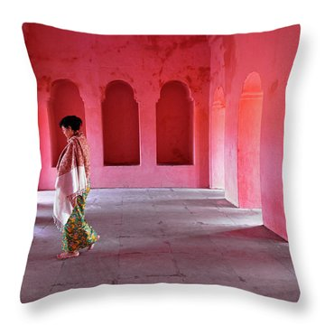Alcoves Throw Pillow by Marji Lang